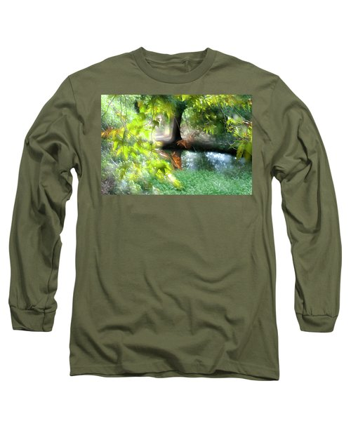Long Sleeve T-Shirt featuring the photograph Autumn Leaves In The Morning Light by Dubi Roman