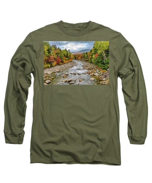 Long Sleeve T-Shirt featuring the photograph Autumn On The Kanc. Nh by Michael Hubley