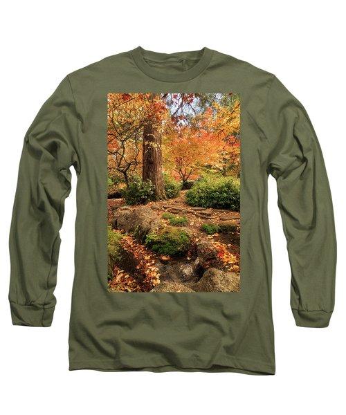 Autumn Stream In Lithia Park Long Sleeve T-Shirt