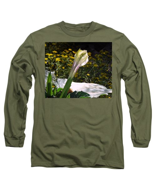 Long Sleeve T-Shirt featuring the photograph Awakening - Sacred Datura by Judy Kennedy