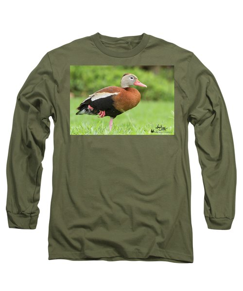 Balancing Black Bellied Whistling Duck Long Sleeve T-Shirt