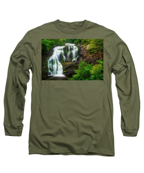 Long Sleeve T-Shirt featuring the photograph Bald River Falls by Andy Crawford