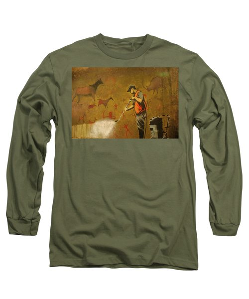 Banksy's Cave Painting Cleaner Long Sleeve T-Shirt