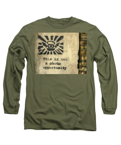Banksy's This Is Not A Photo Opportunity Long Sleeve T-Shirt