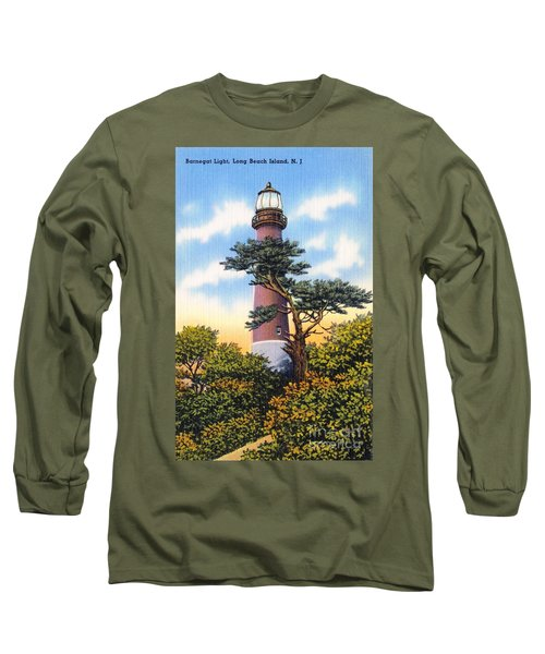 Barnegat Light - With Text Long Sleeve T-Shirt