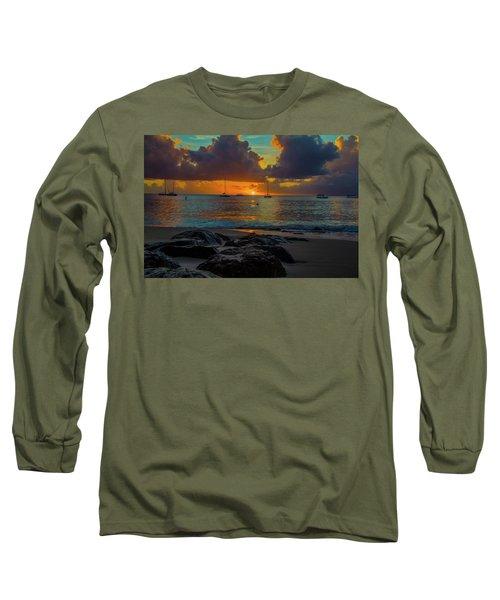 Beach At Sunset Long Sleeve T-Shirt