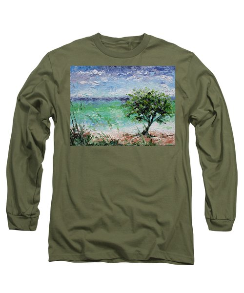 Long Sleeve T-Shirt featuring the painting Beach Tree by William Love