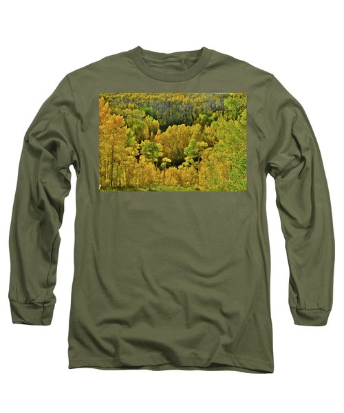 Beautiful Fall Colors At Woods Lake State Wildlife Area Long Sleeve T-Shirt