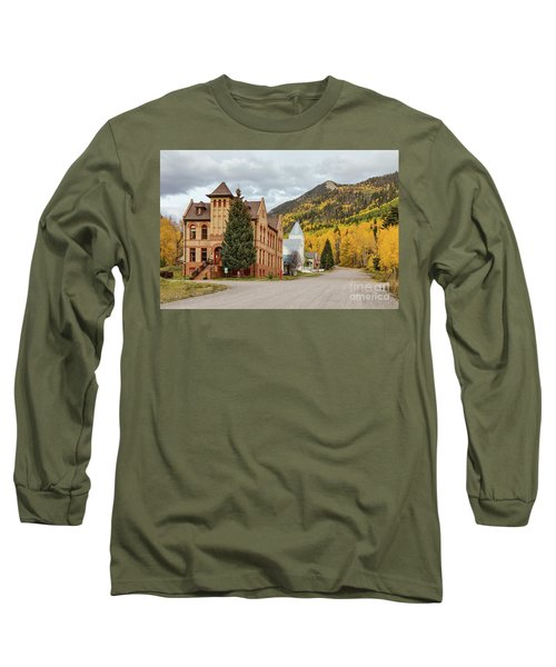 Long Sleeve T-Shirt featuring the photograph Beautiful Small Town Rico Colorado by James BO Insogna