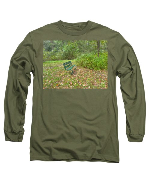 Bench Overlooking Pine Quarry Long Sleeve T-Shirt