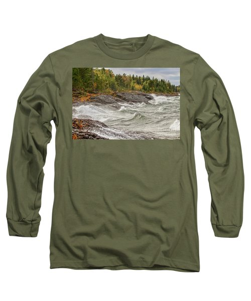 Big Waves In Autumn Long Sleeve T-Shirt