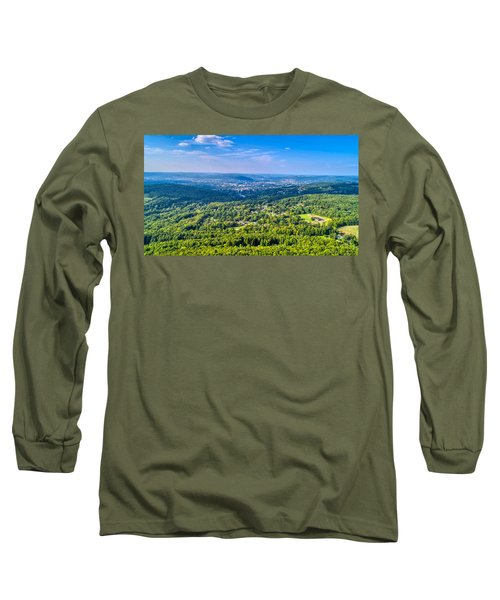 Binghamton Aerial View Long Sleeve T-Shirt
