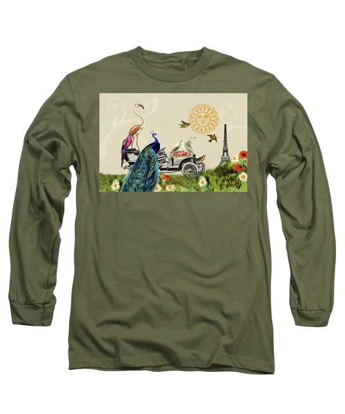 Birds Of A Feather In Paris, France Long Sleeve T-Shirt