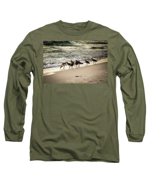 Birds On The Beach Long Sleeve T-Shirt