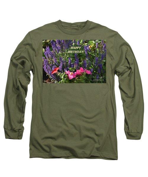 Birthday Flowers Long Sleeve T-Shirt