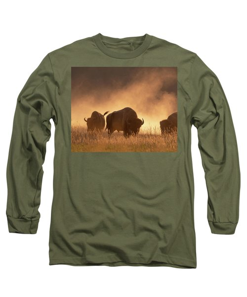 Bison In The Dust Long Sleeve T-Shirt
