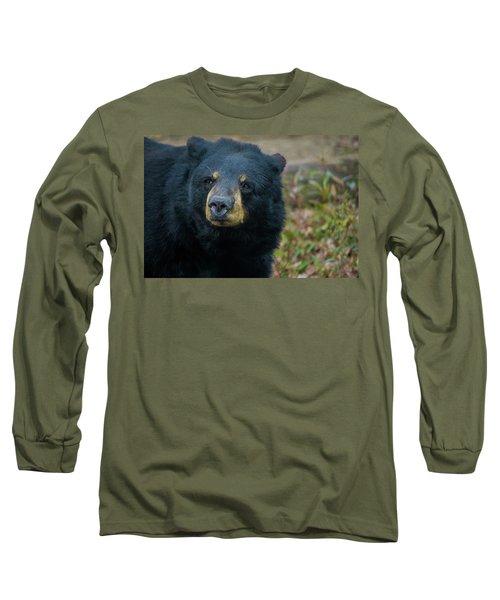 Black Bear In Deep Thought Long Sleeve T-Shirt