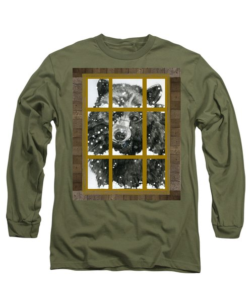 Black Bear, Outside My Window Long Sleeve T-Shirt