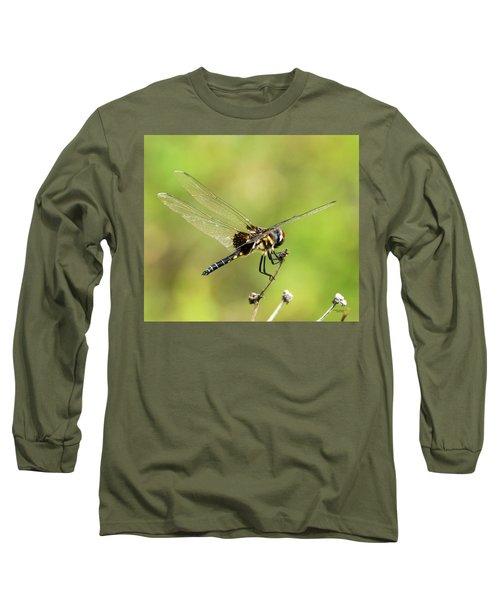 Black Saddlebags Dragonfly Long Sleeve T-Shirt