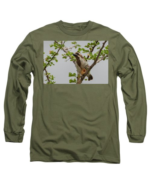 Black-throated Barbet Long Sleeve T-Shirt