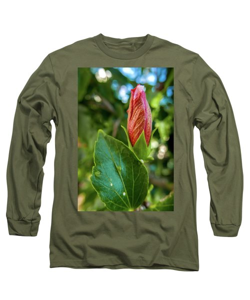 Blooming Hibiscus Long Sleeve T-Shirt