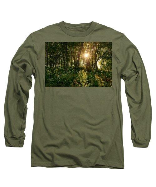 Blue Ridge Parkway - Last Of Summers Light, North Carolina Long Sleeve T-Shirt