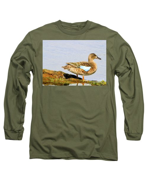 Blue-winged Teal Female Duck Long Sleeve T-Shirt