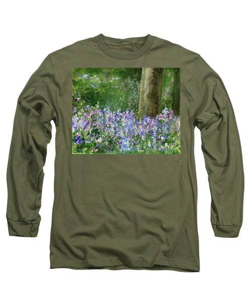 Bluebells Under The Trees Long Sleeve T-Shirt