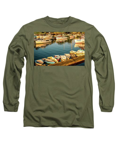 Boats In The Cove. Perkins Cove, Maine Long Sleeve T-Shirt