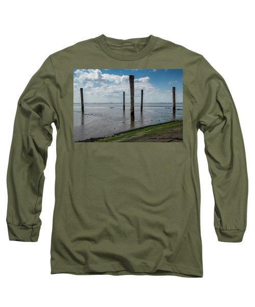 Long Sleeve T-Shirt featuring the photograph Bohrinsel Viewing Platform by Anjo Ten Kate