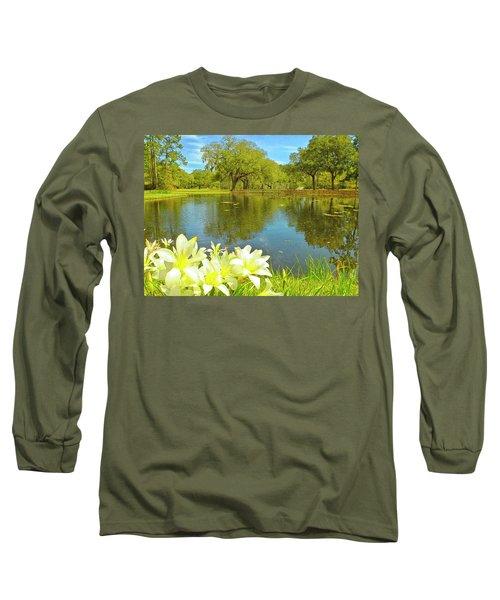 Botanical Gardens Pond Long Sleeve T-Shirt