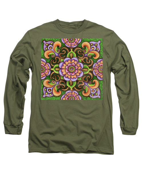 Botanical Mandala 5 Long Sleeve T-Shirt