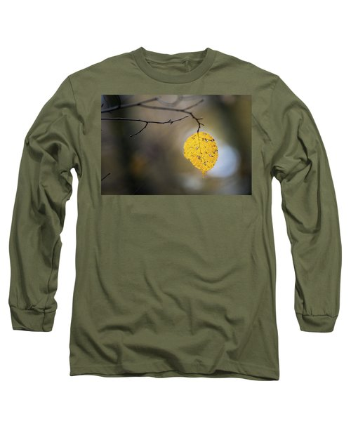 Long Sleeve T-Shirt featuring the photograph Bright Fall Leaf 6 by Michael Arend