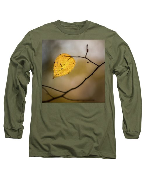 Long Sleeve T-Shirt featuring the photograph Bright Fall Leaf 8 by Michael Arend