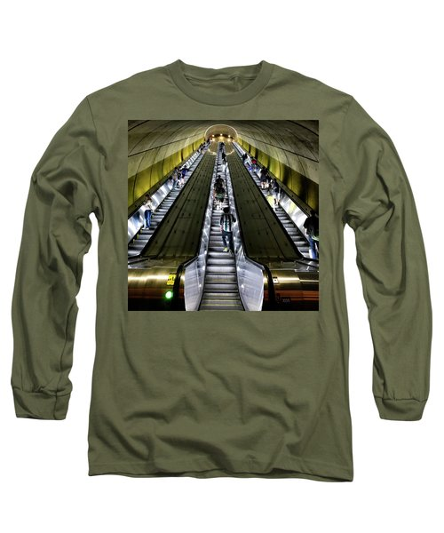 Bright Lights, Tall Escalators Long Sleeve T-Shirt