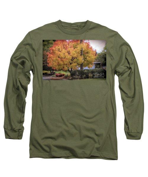 Brilliant Fall Color Tree Yellows Oranges Seasons  Long Sleeve T-Shirt
