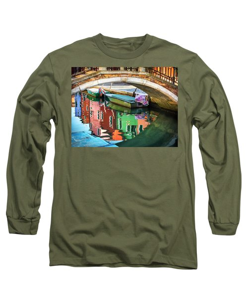 Burano Bridge Reflections Long Sleeve T-Shirt