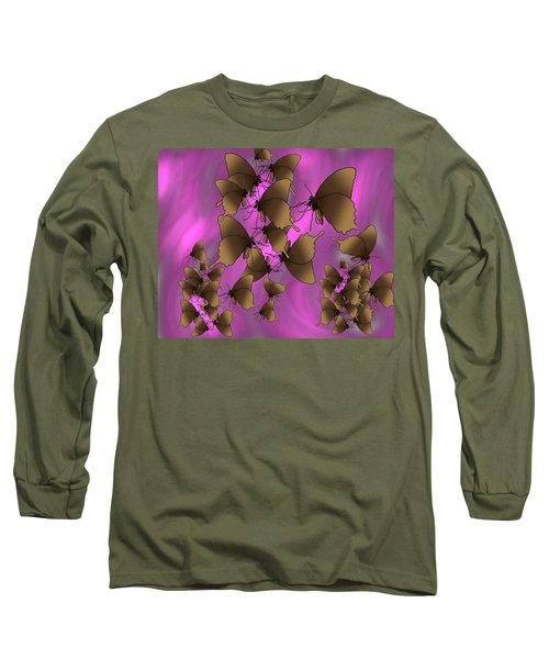 Butterfly Patterns 17 Long Sleeve T-Shirt