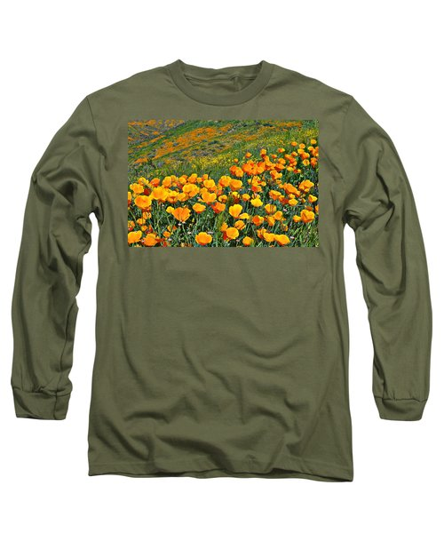 California Golden Poppies And Goldfields Long Sleeve T-Shirt