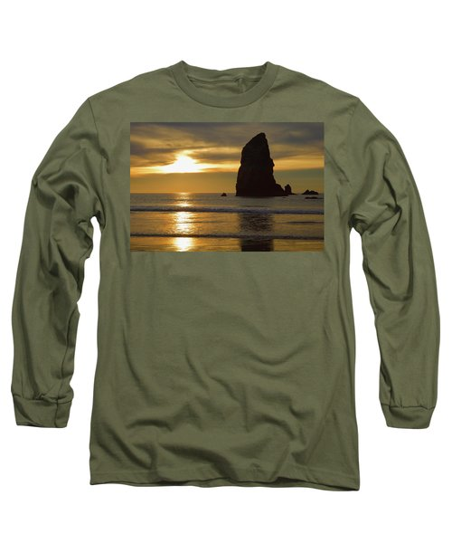 Cannon Beach November Evening Long Sleeve T-Shirt