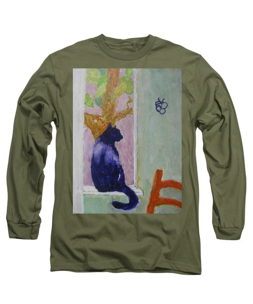 cat named Seamus Long Sleeve T-Shirt