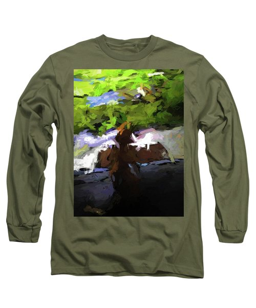 Cat On The Porch Long Sleeve T-Shirt