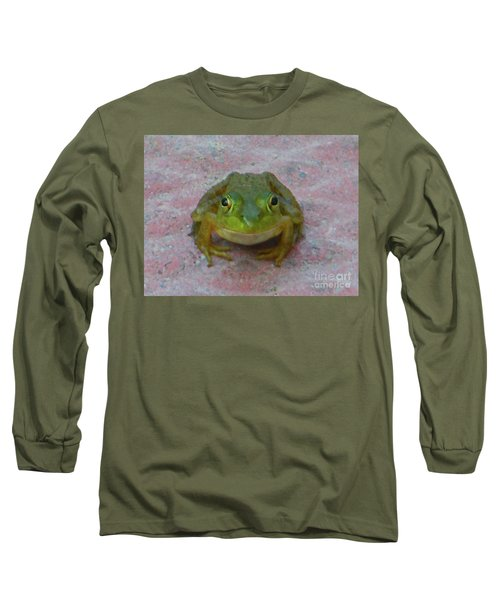 Long Sleeve T-Shirt featuring the photograph Charming American Bullfrog by Rockin Docks