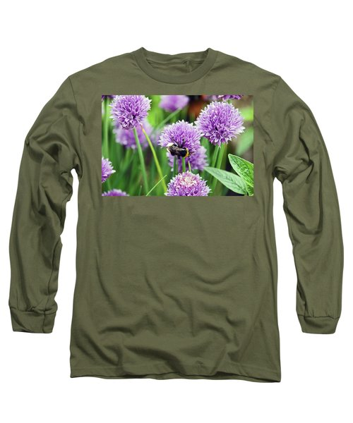 Chorley. Picnic In The Park. Bee In The Chives. Long Sleeve T-Shirt