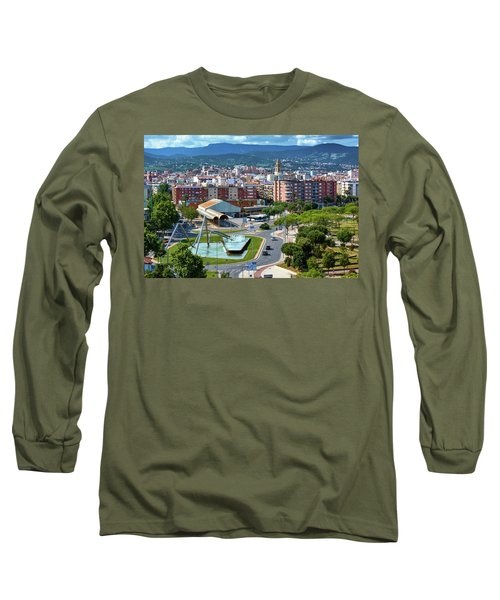 Cityscape In Reus, Spain Long Sleeve T-Shirt