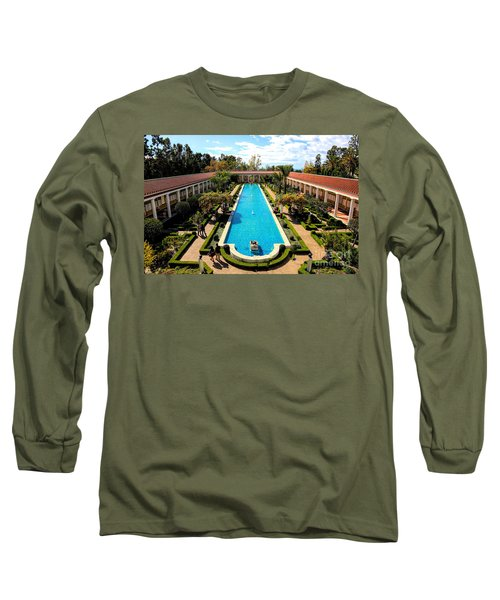 Classic Awesome J Paul Getty Architectural View Villa  Long Sleeve T-Shirt