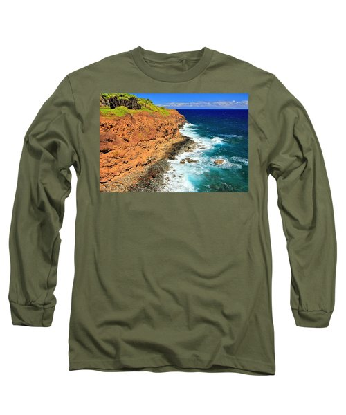 Cliff On Pacific Ocean Long Sleeve T-Shirt