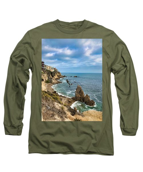 Cliffs Of Corona Del  Mar Long Sleeve T-Shirt