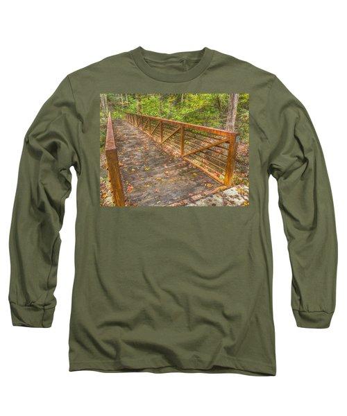 Close Up Of Bridge At Pine Quarry Park Long Sleeve T-Shirt