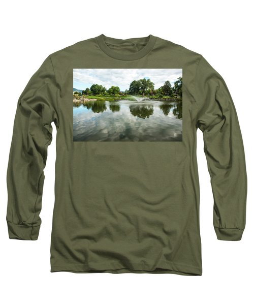 Clouds On Ashley Pond Long Sleeve T-Shirt